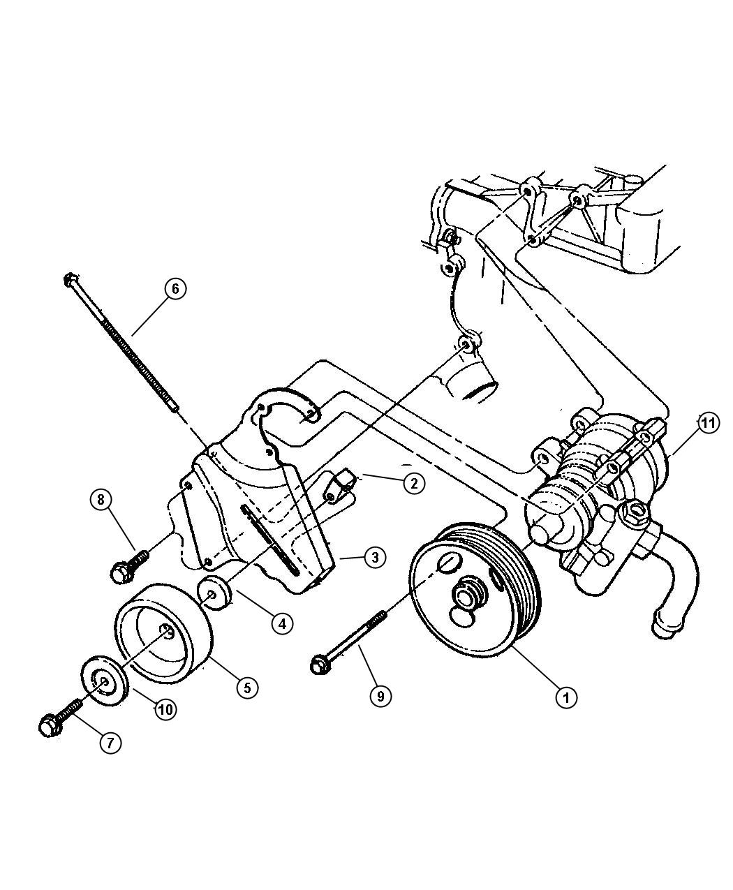 Jeep Cherokee Pump And Mounting With 2 5l Gas Engine