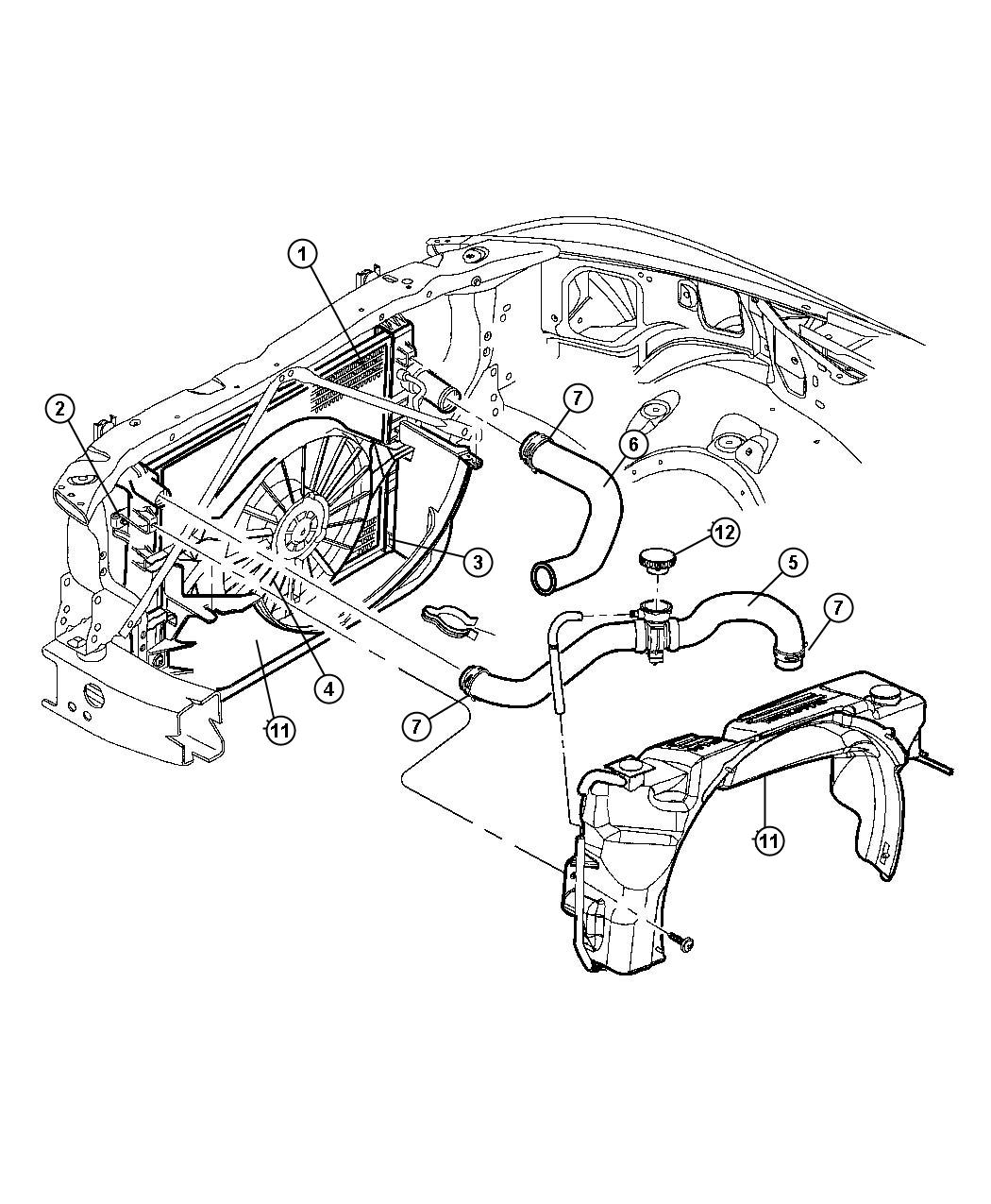 Dodge Durango Radiator And Related Parts 4 7l Engine