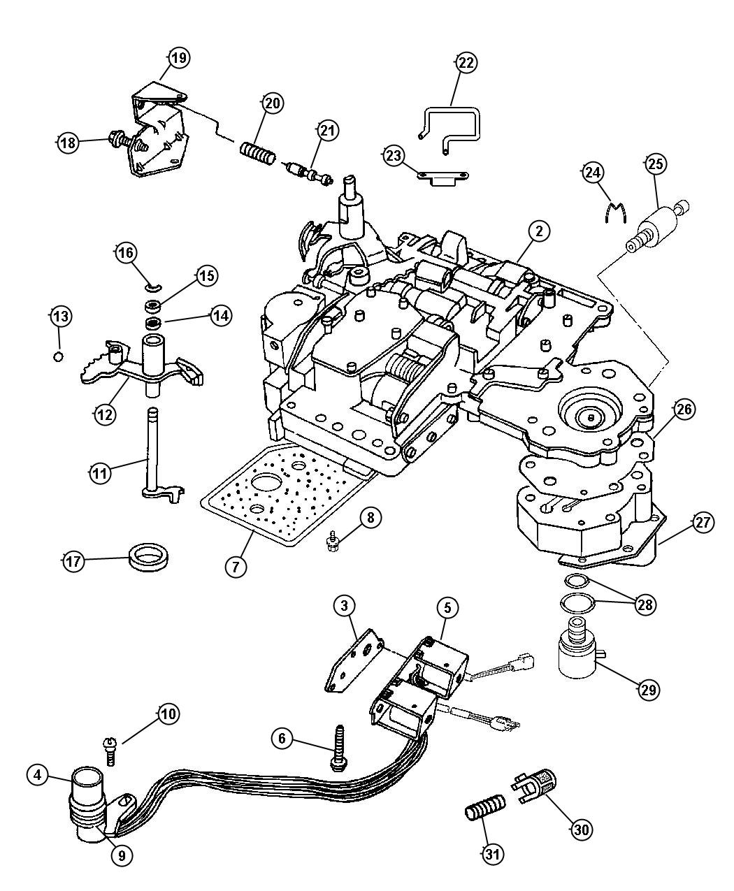 Jeep Grand Cherokee Solenoid Transmission Overdrive
