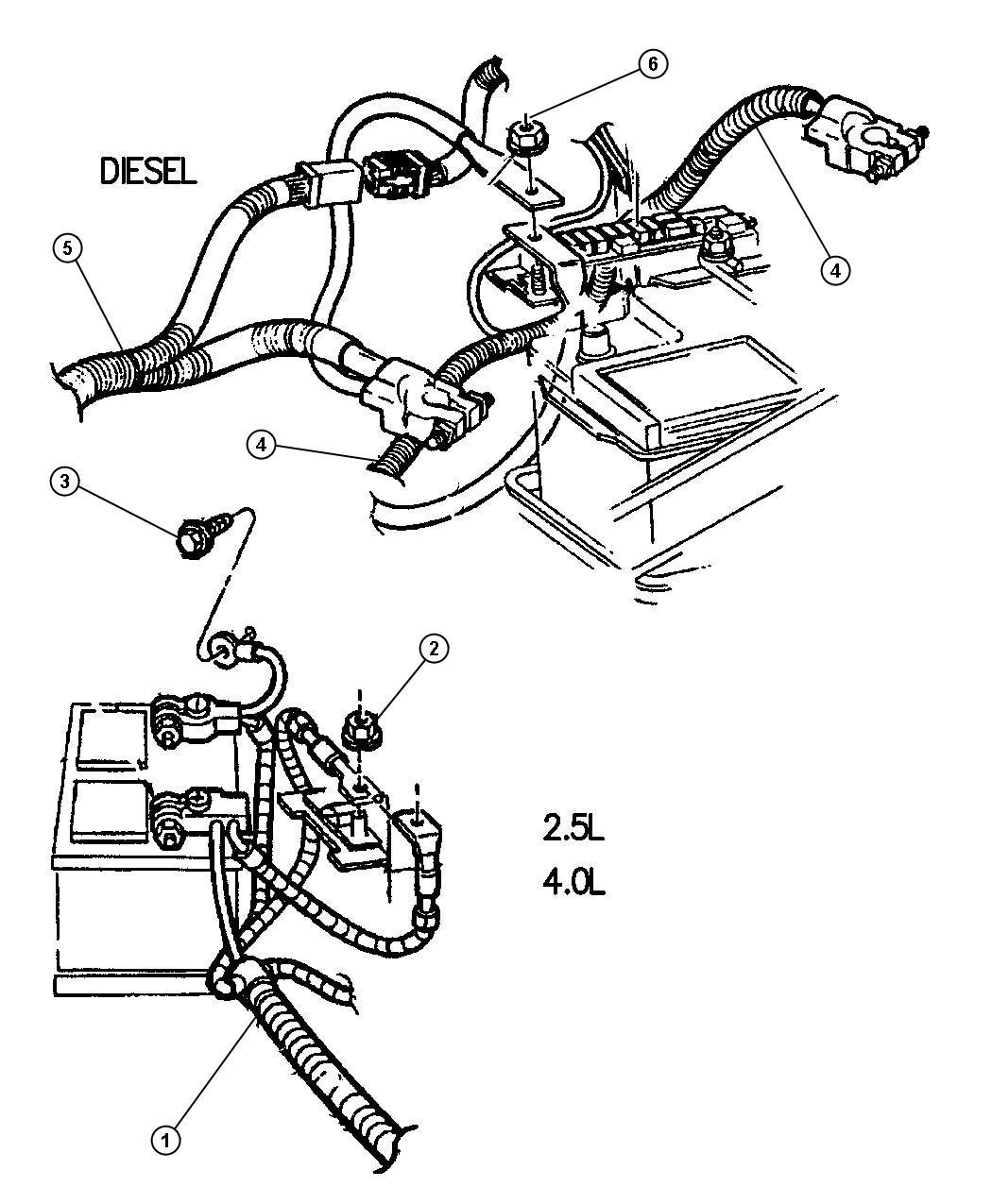 Chrysler 200 Wiring. Battery. Frontla, floorargentina