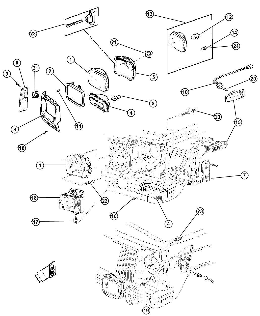 2001 Jeep Cherokee Module. Headlamp delay. Relay, headlamp