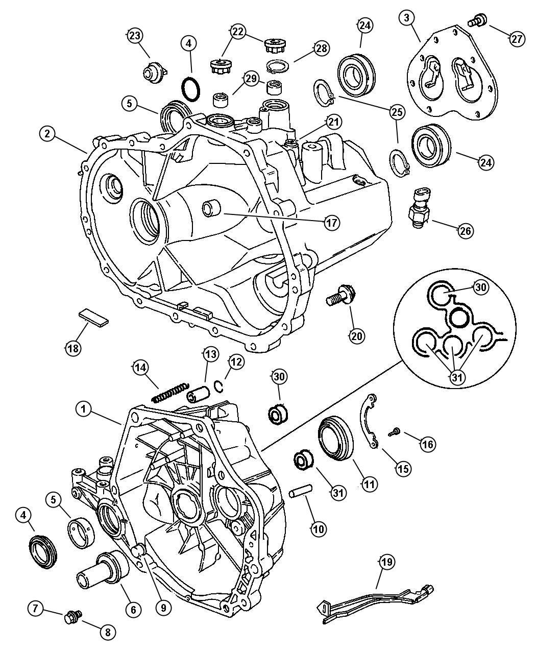 Chrysler Pt Cruiser Bearing Bearing Assembly Input