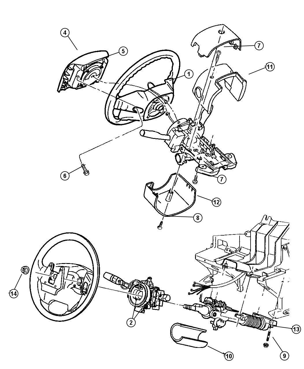 2000 Dodge Dakota Wheel. Steering. Trim: [all trim codes