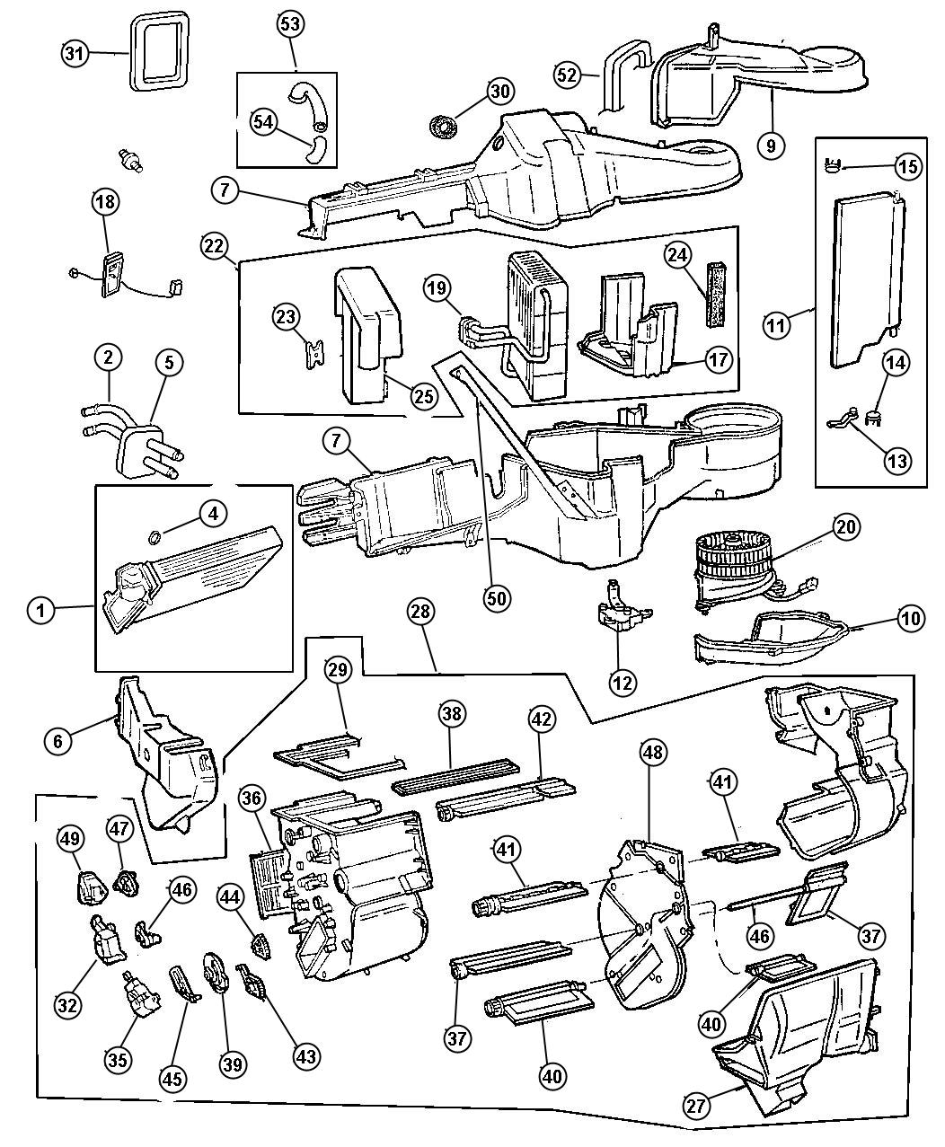 Service manual [1998 Plymouth Voyager How To Remove Heater