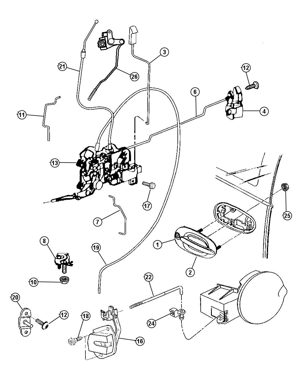 Service manual [1997 Plymouth Grand Voyager Front Door