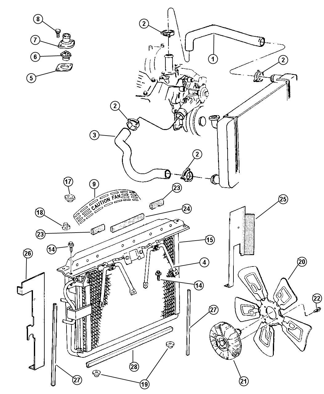 Service manual [1998 Jeep Grand Cherokee Remove Engine