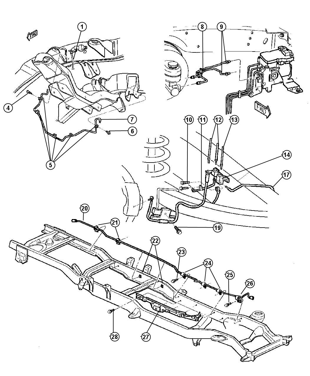 Dodge Ram Front End Diagram