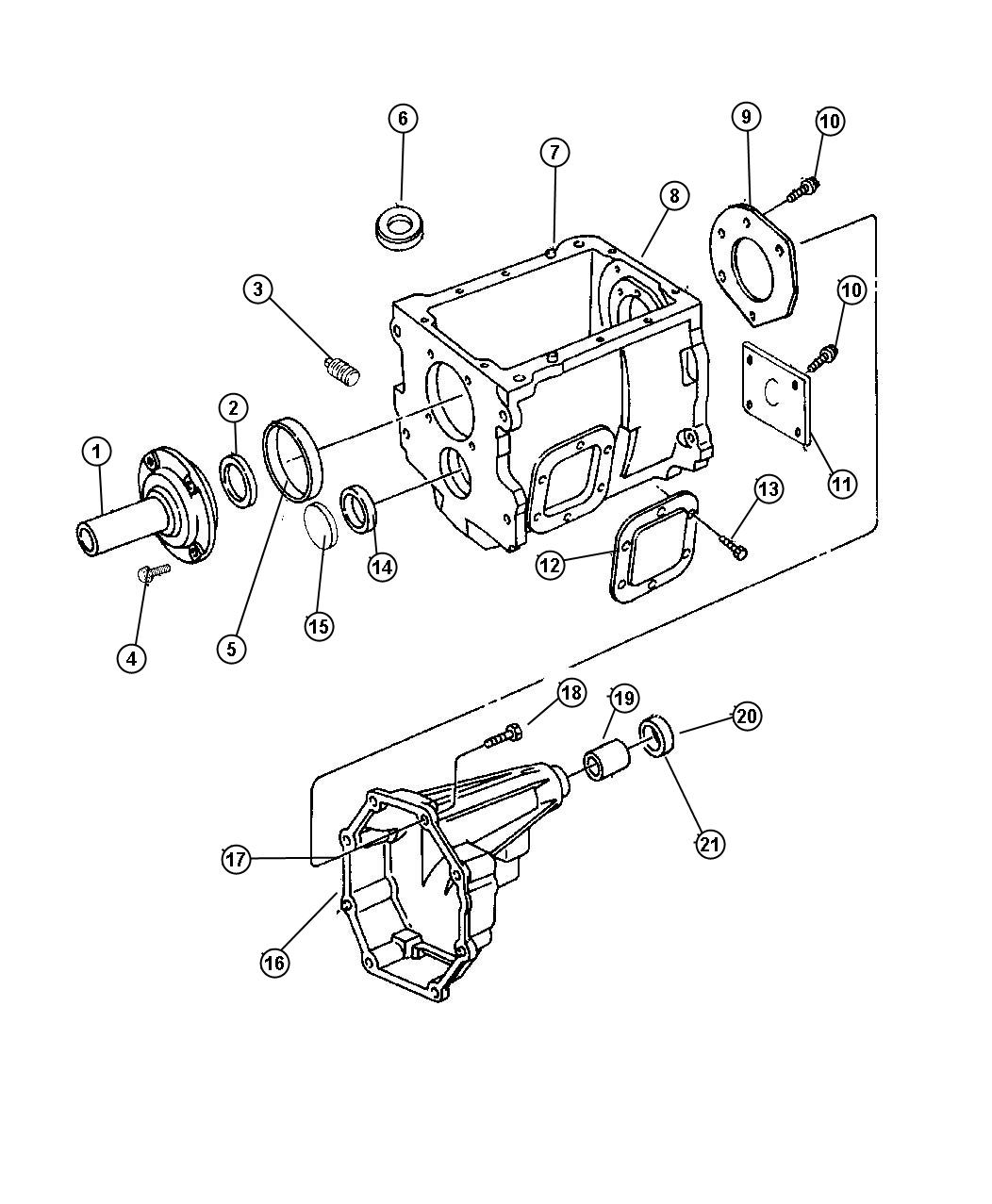 1998 Dodge Ram 3500 Plug. Countershaft. Ddpddx