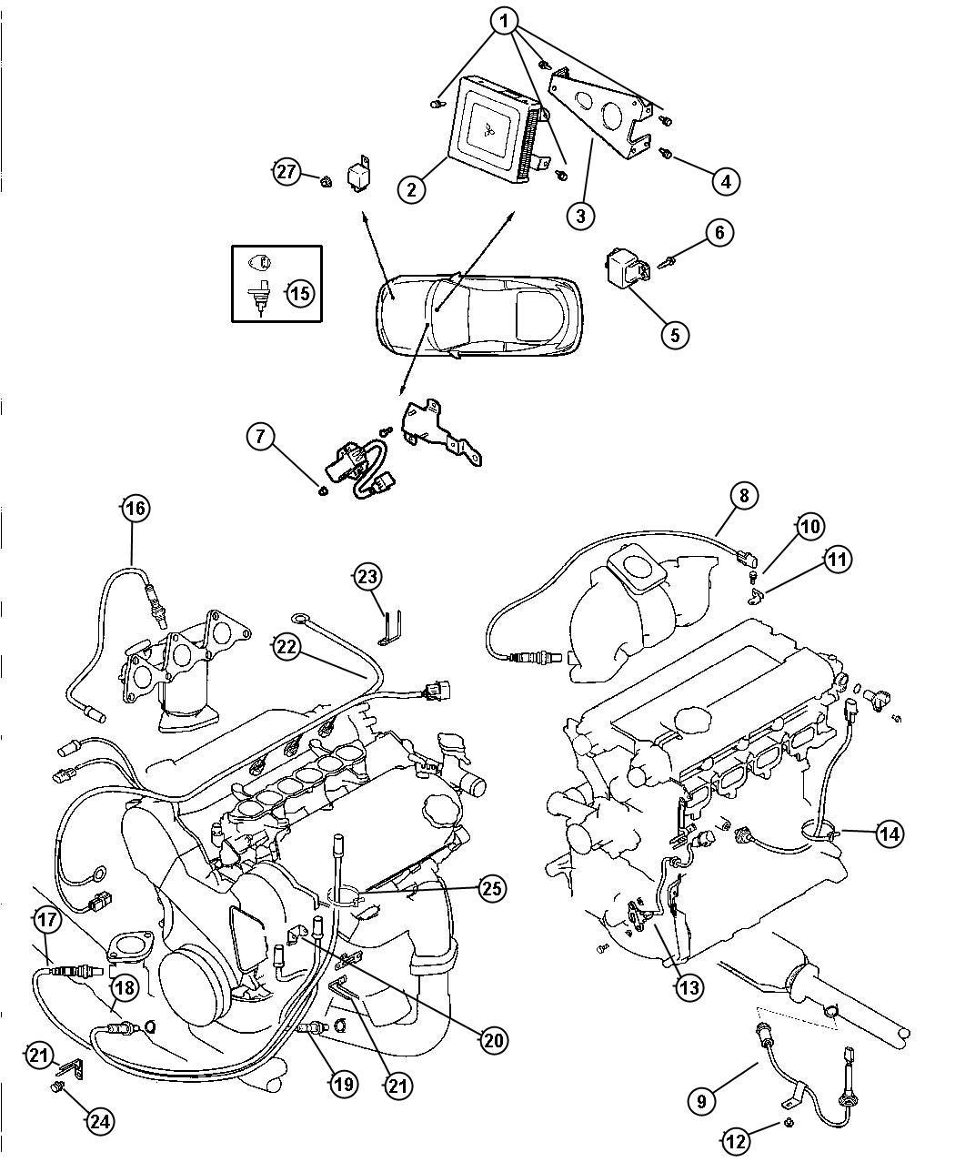 Dodge Dakota Wiring. Alternator. Relayssensorscontrol