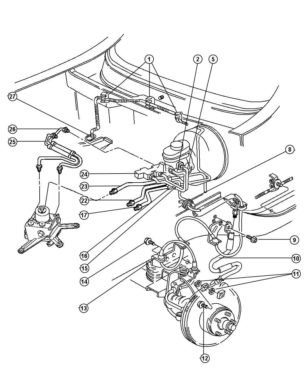 Jeep Cherokee Valve. Proportioning. Valve assembly