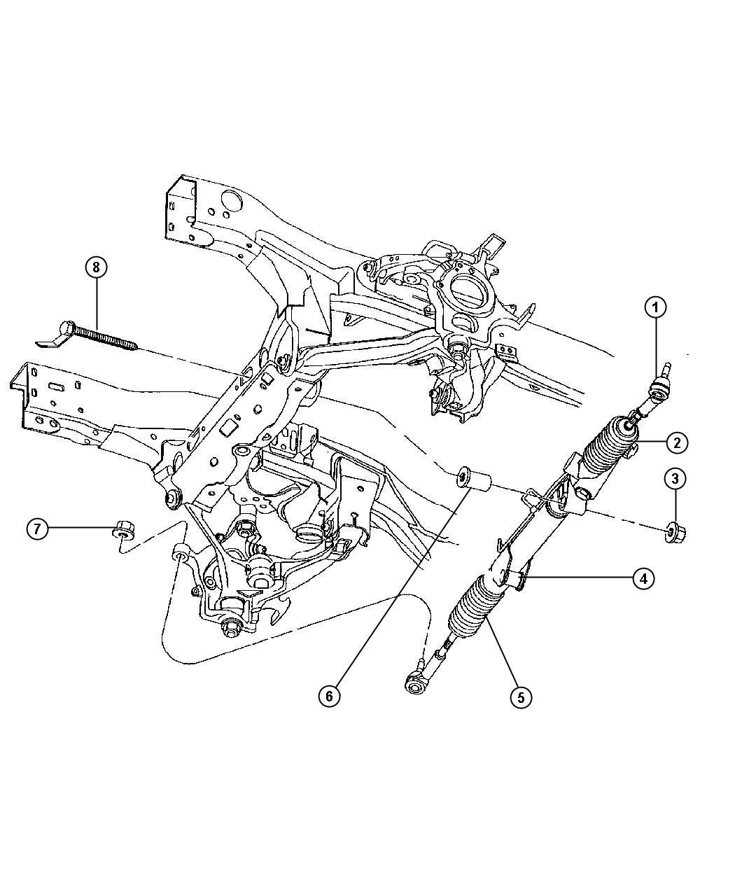 Dodge Dakota Gear, Rack & Pinion Power Steering, N5.