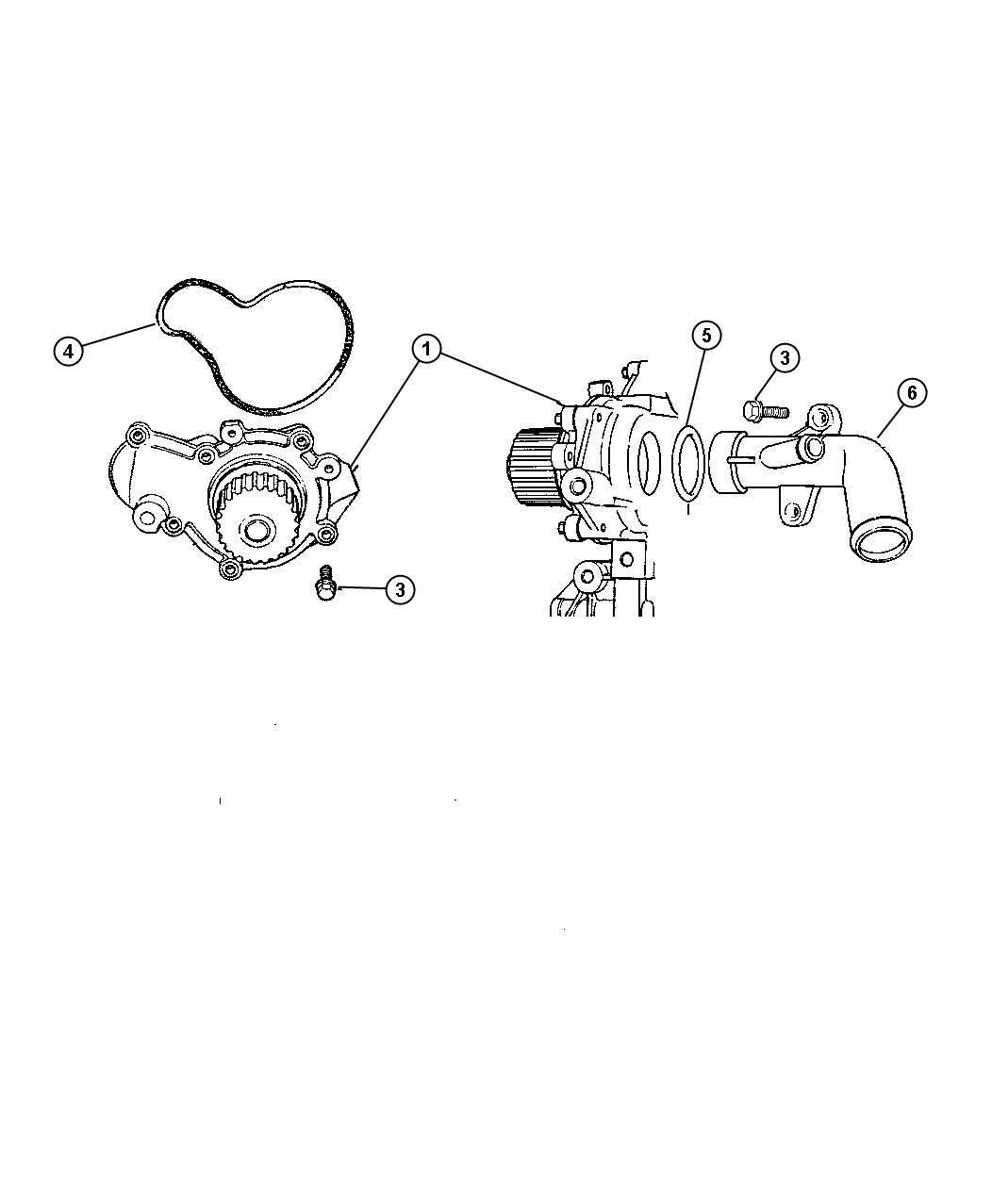 Dodge Stratus Se Sedan Water Pump And Related Parts