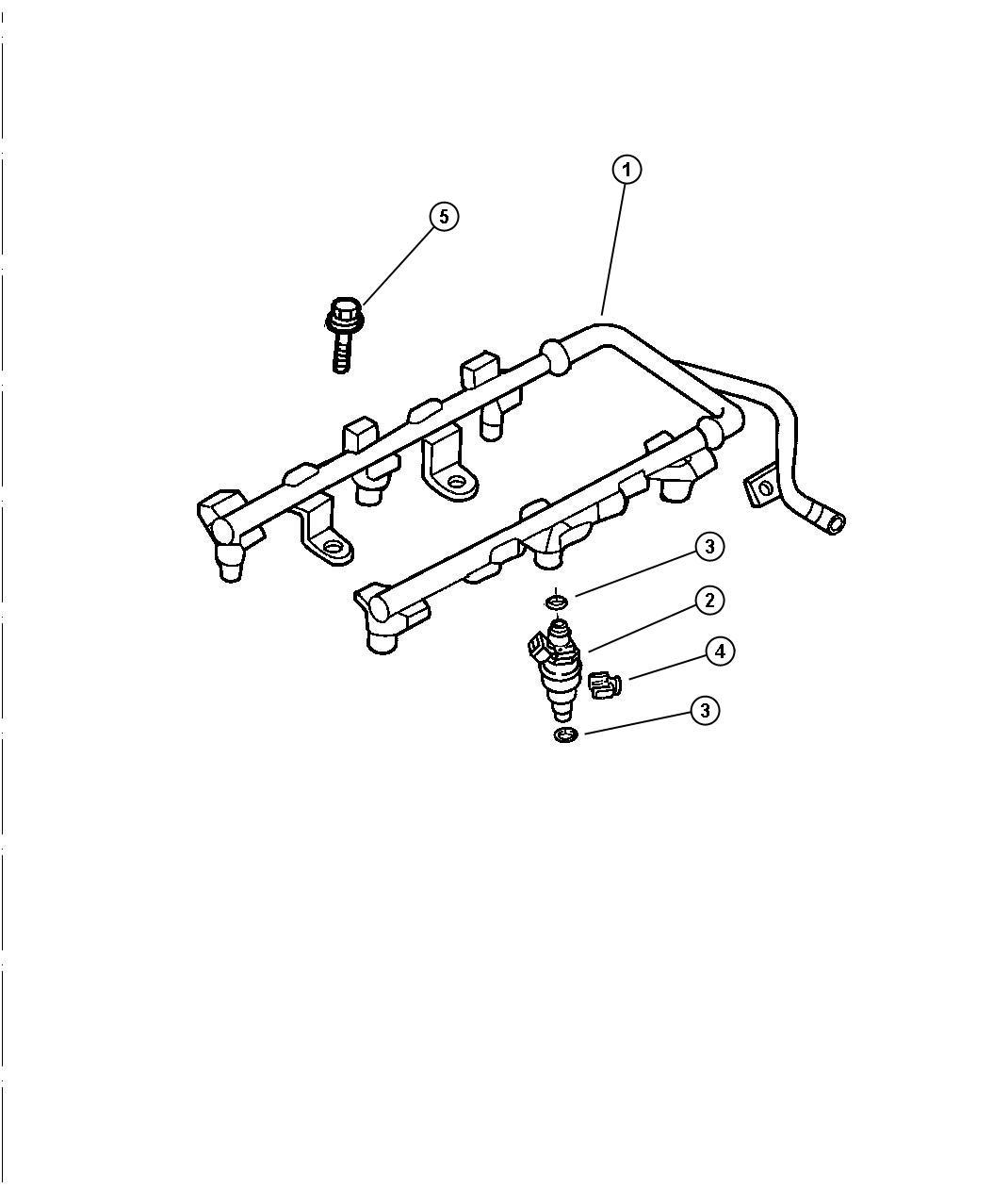 Chrysler Sebring Clip. Fuel injector. [ee0] all 2.7 litre