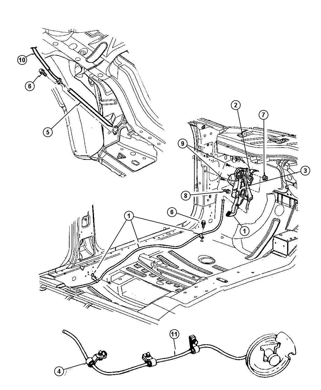 Chrysler 300 Handle. Parking brake. [dv], chrysler 300m