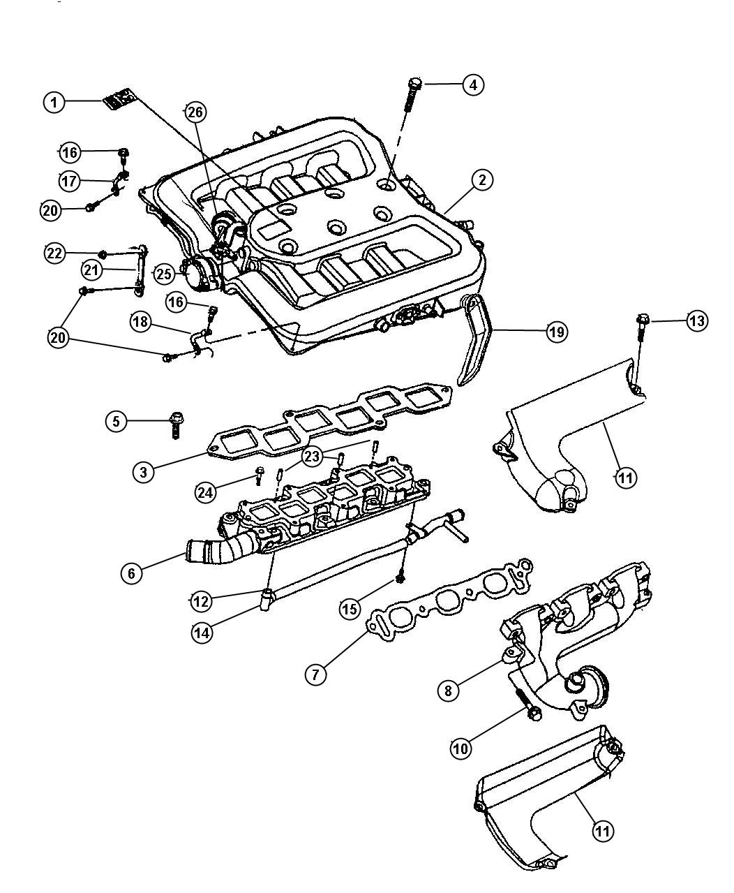 Service manual [Upper Intake 2001 Chrysler Lhs Replacement