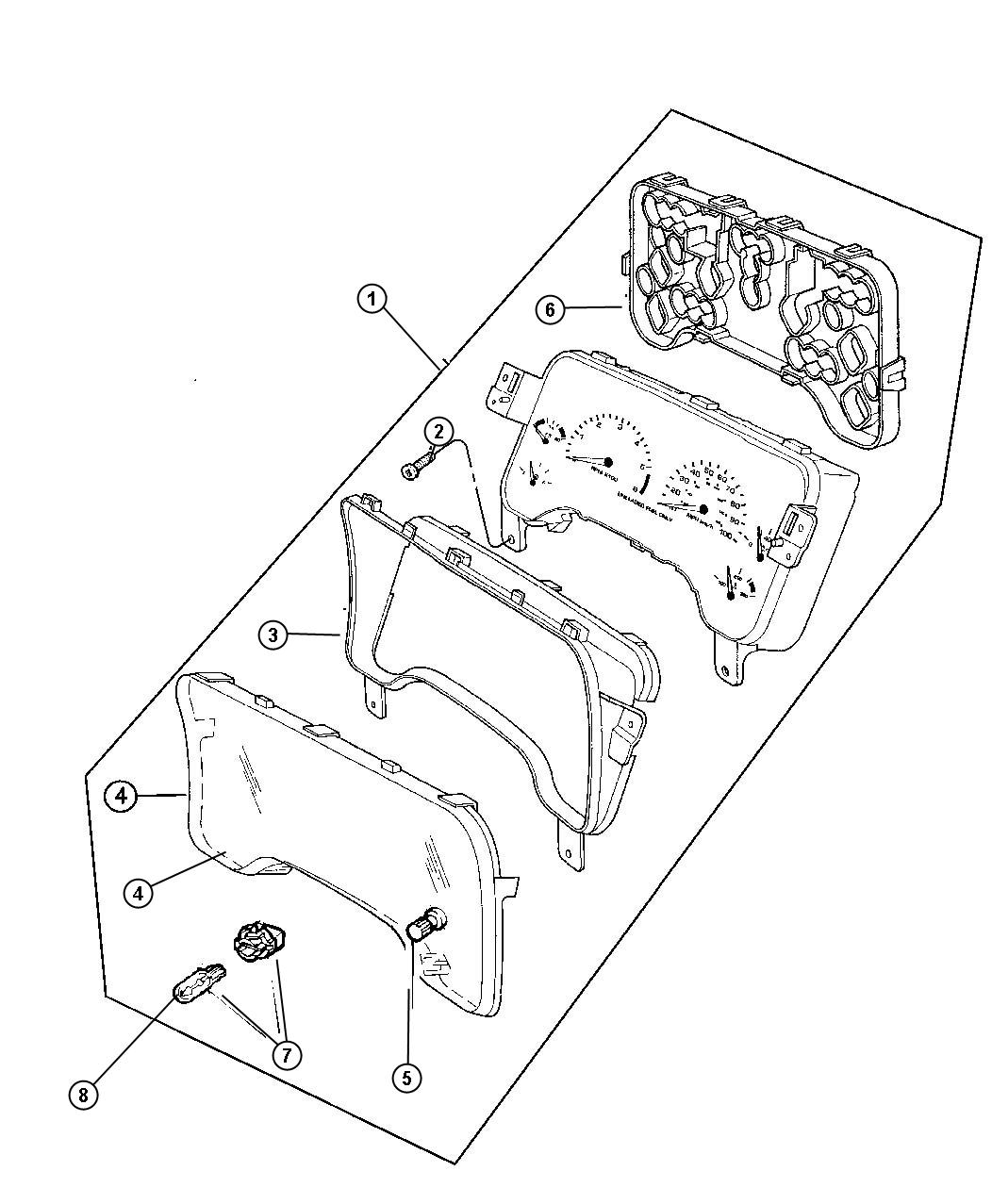 Jeep Wrangler Bulb. Pc74. Cluster, instrument cluster