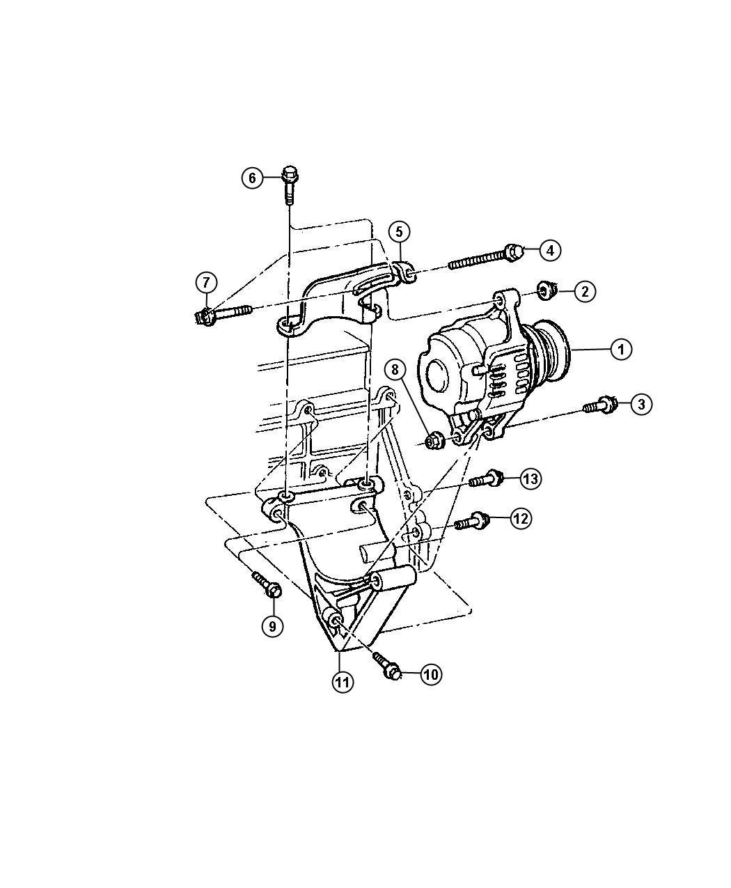 Service manual [1996 Dodge Bolts Alternator Support