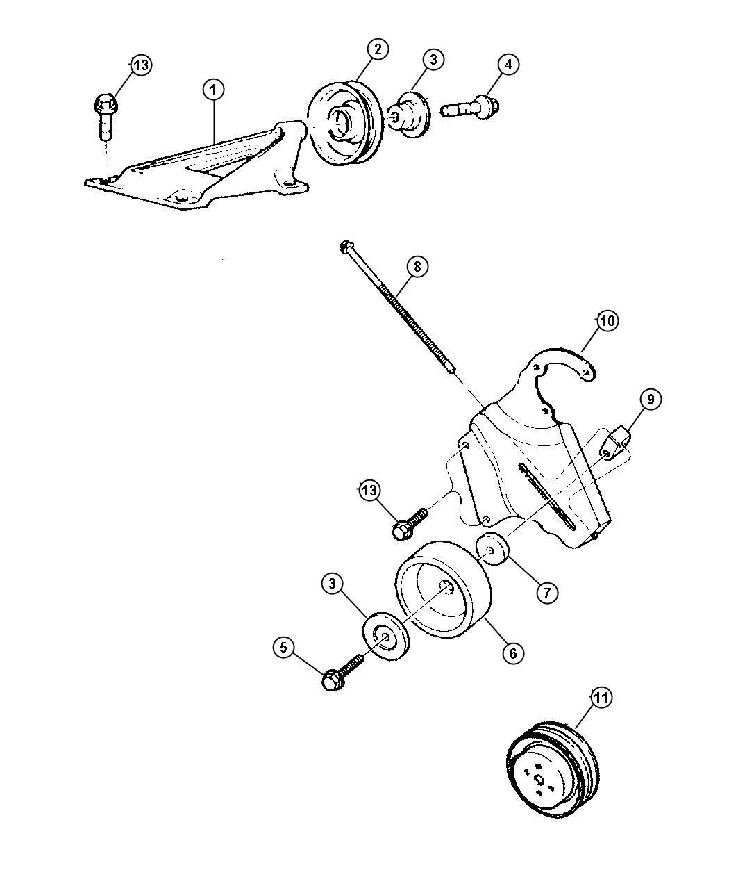 Drive Pulleys 4 0l Engine Lhd