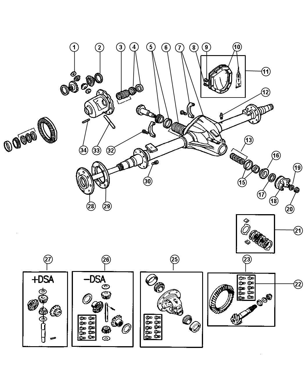 Dodge Ram 1500 Bolt. Lower. Axle vent. Screw, rear axle