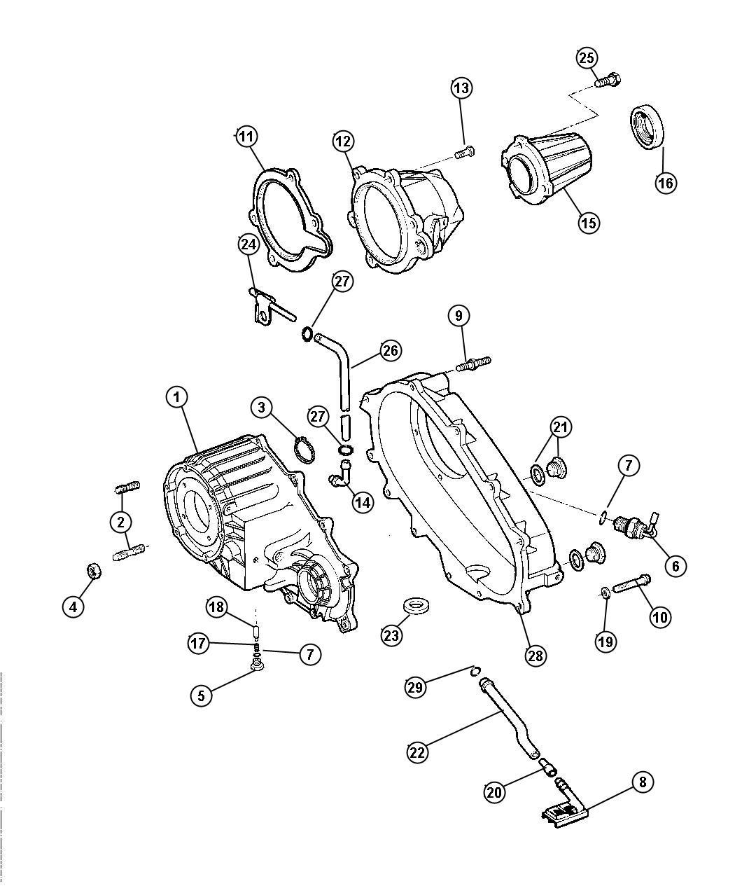 Dodge Ram Gasket Transfer Case Ab