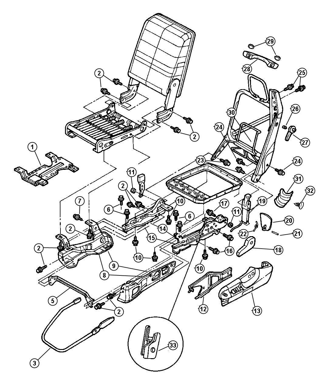 2000 Dodge Ram 2500 Shield. Driver. Seat cushion. Manual