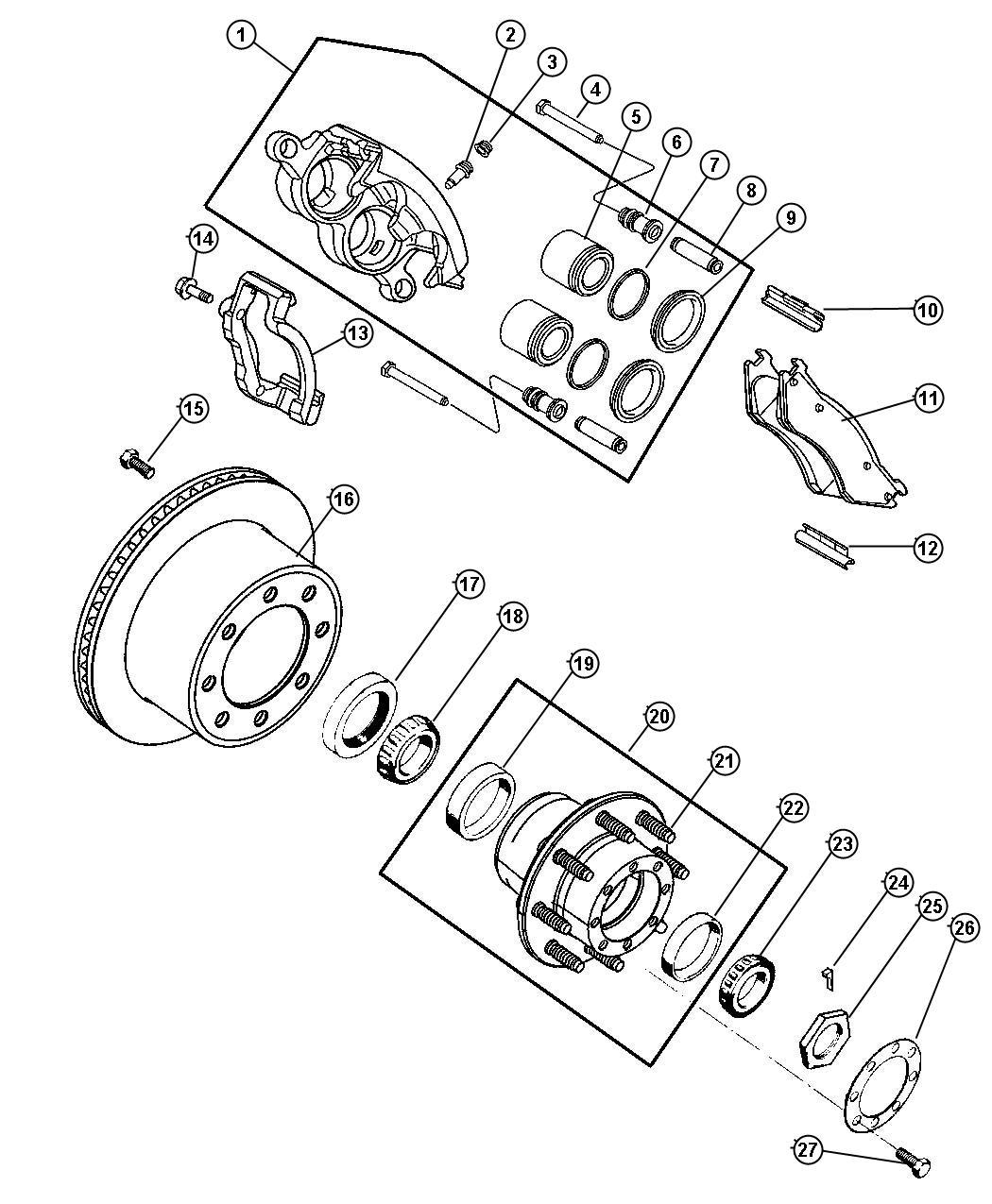 Dodge Ram 2500 Ke Caliper Parts Diagram. Dodge. Auto