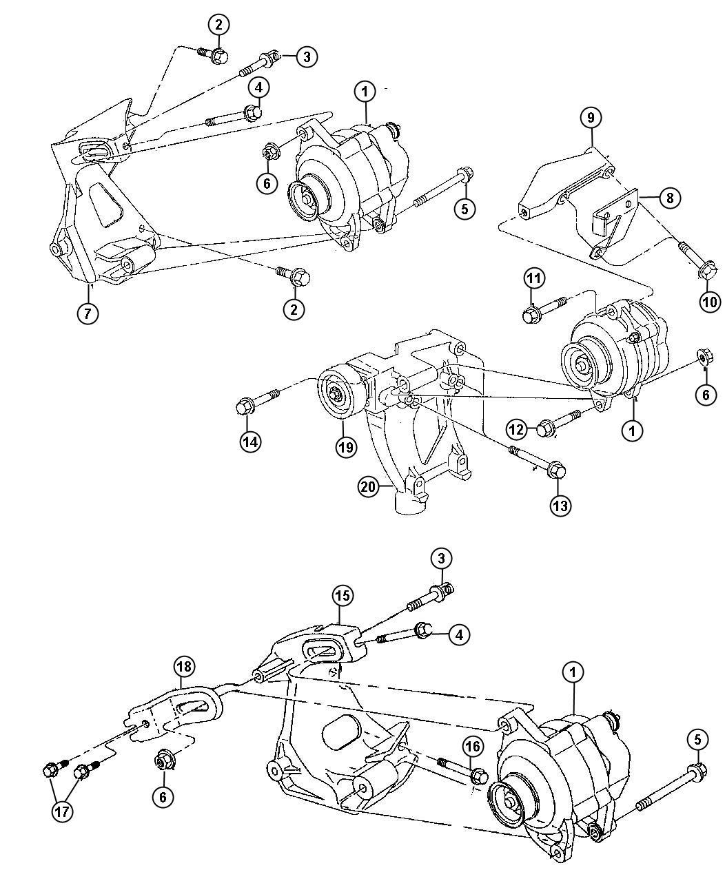 Alternator Components Diagram, Alternator, Free Engine