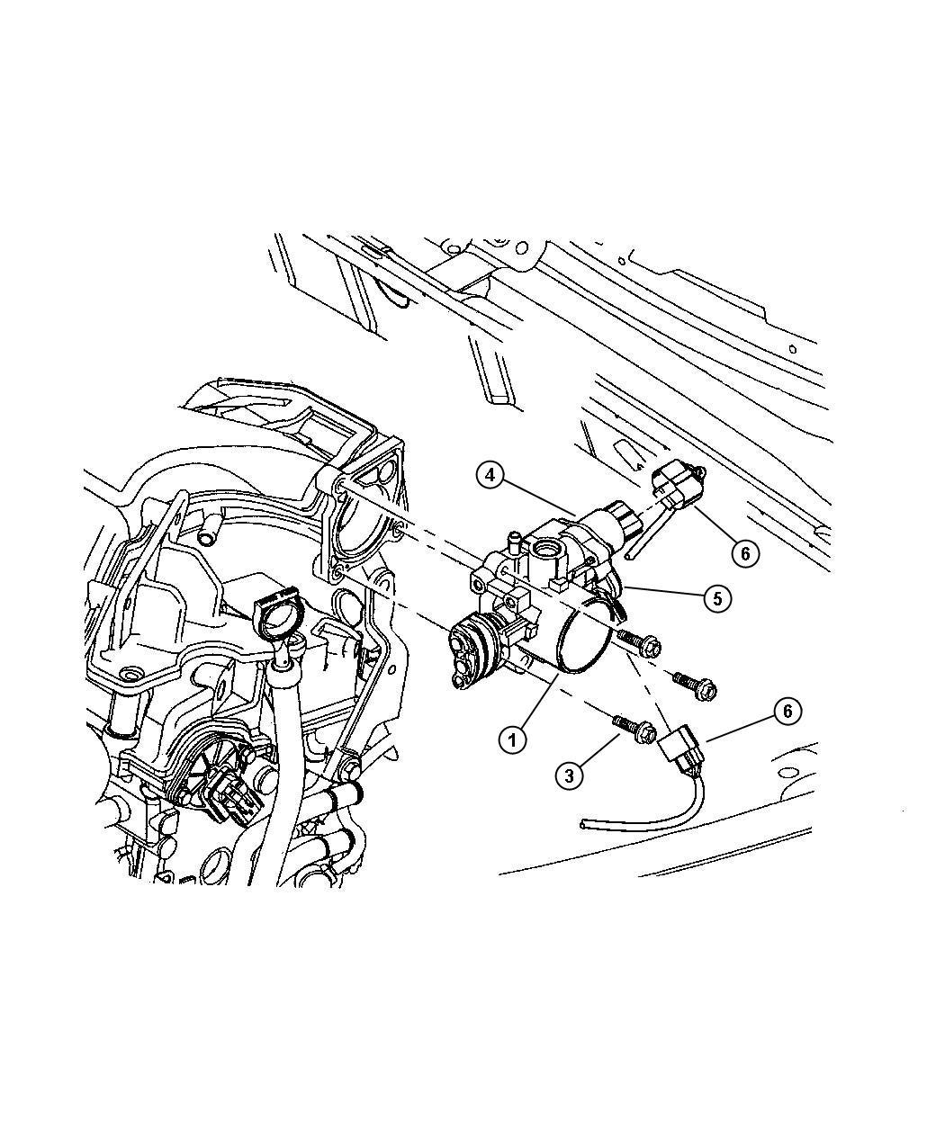 Chrysler Sebring Motor Throttle Body A I S Air