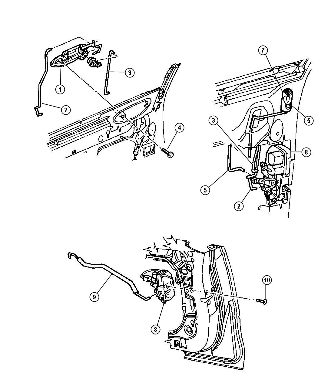 Service manual [Removing Door Lock Cylinder 1999 Dodge