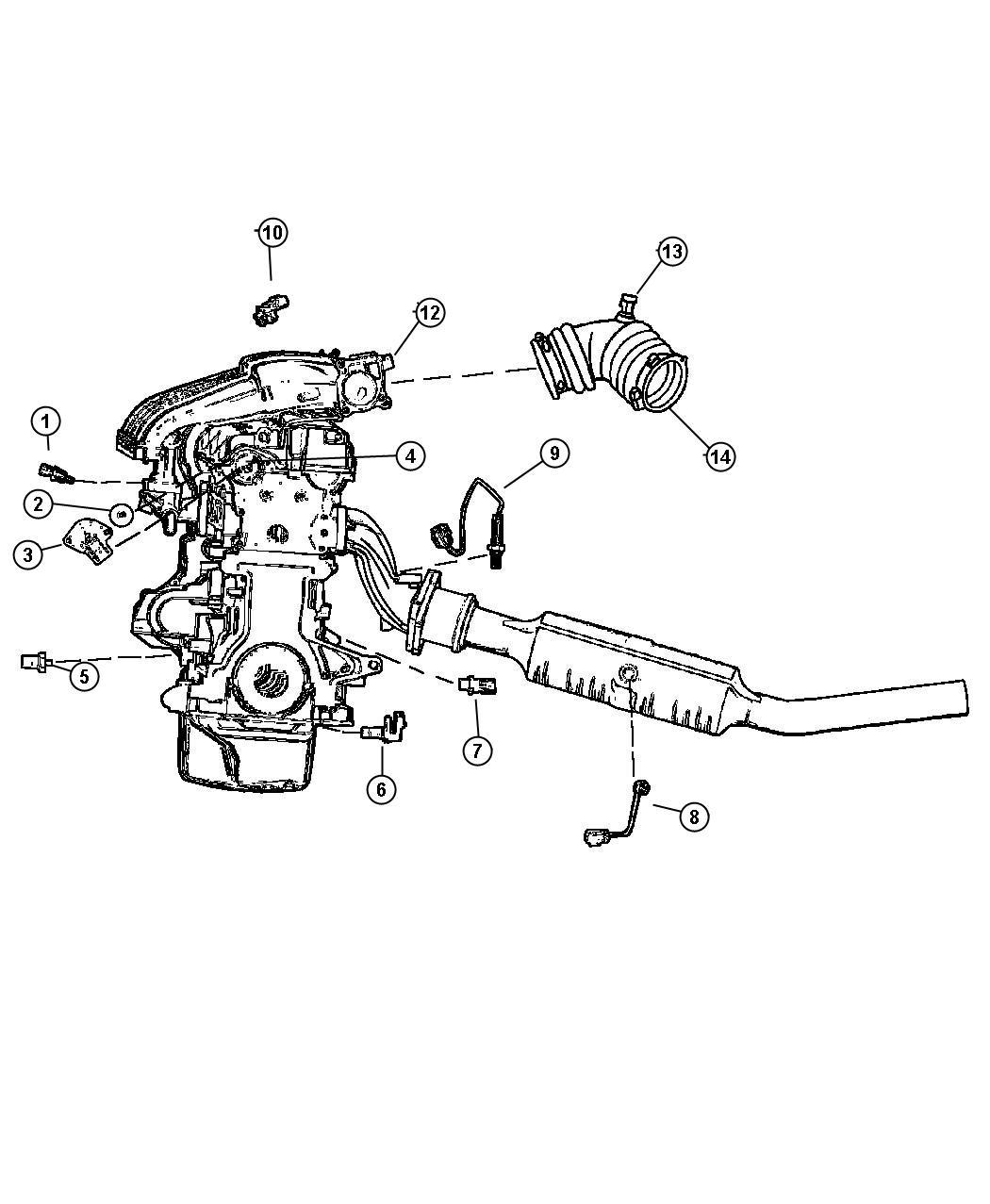 2001 Chrysler Pt Cruiser Sensors, Engine.