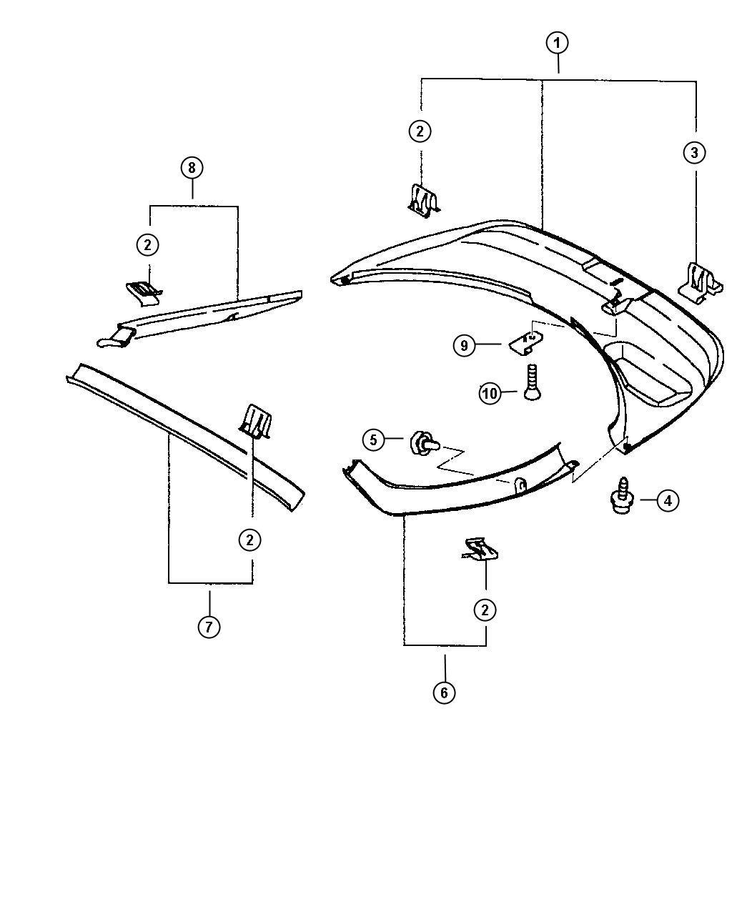Service manual [1998 Eagle Talon Liftgate Panel Removal