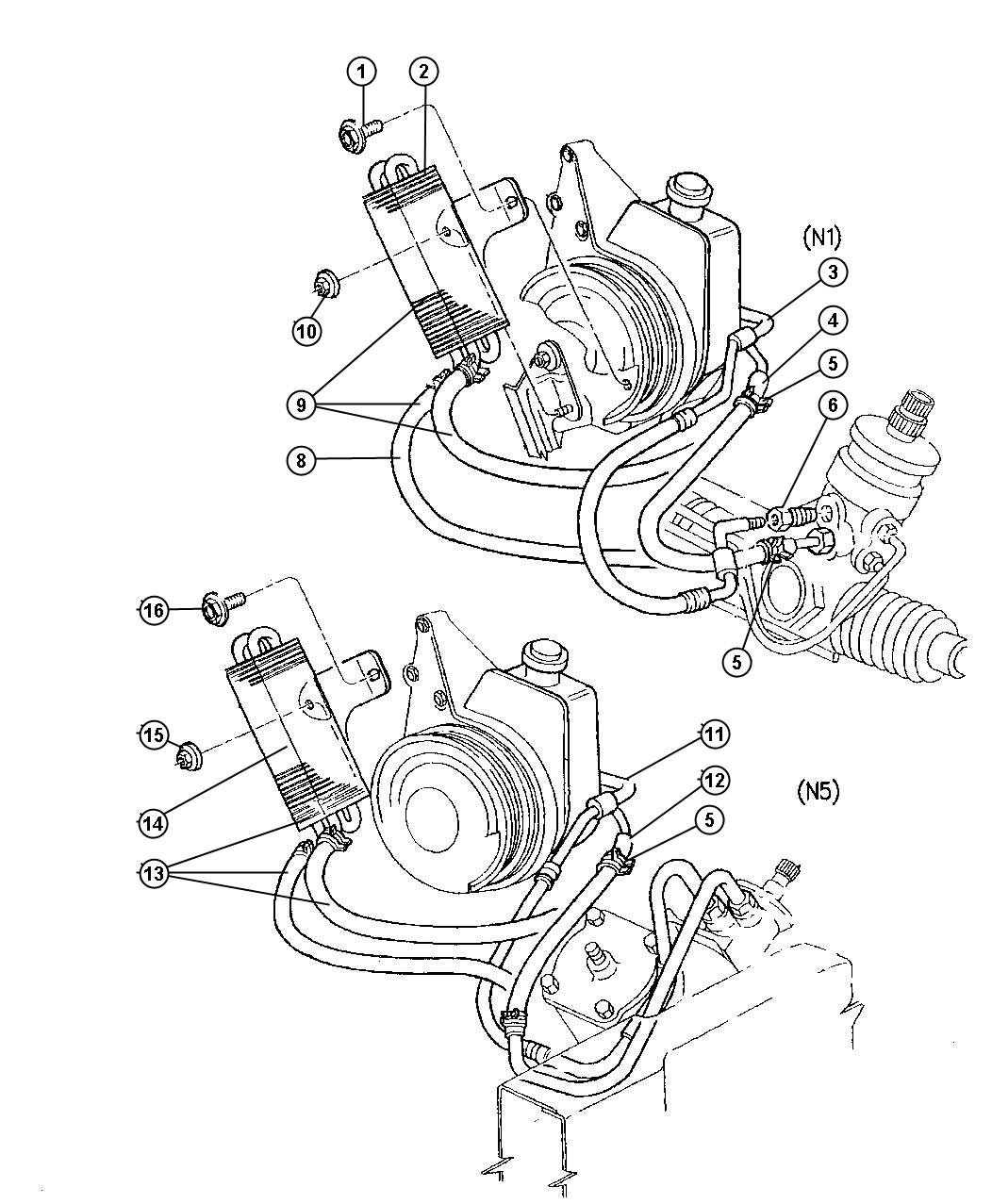 2000 Dodge Dakota Power Steering Diagram, 2000, Free