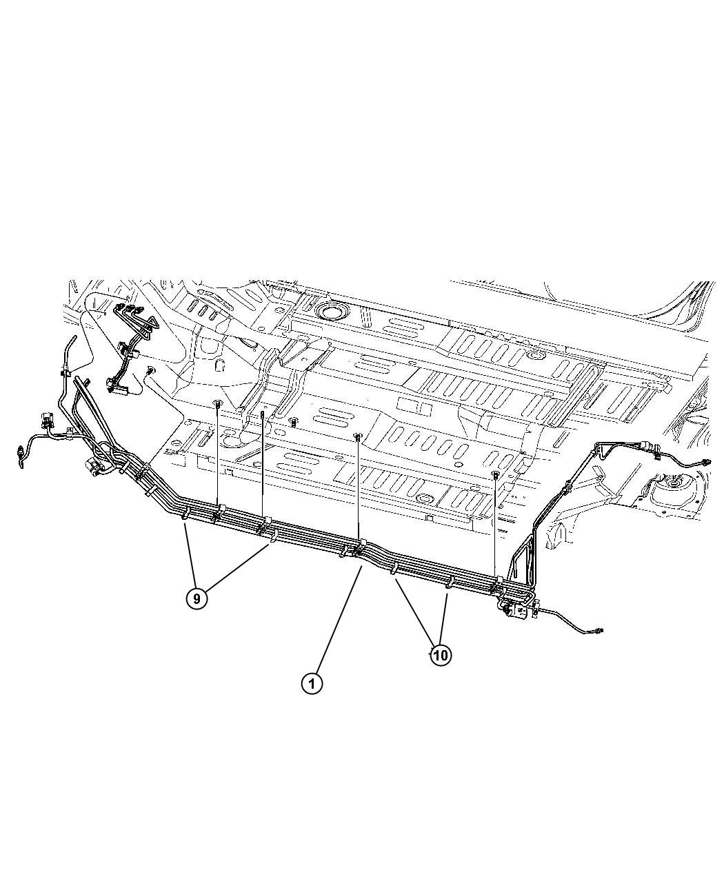 Chrysler Pt Cruiser Tube. Fuel supply. Engine, fuel lines