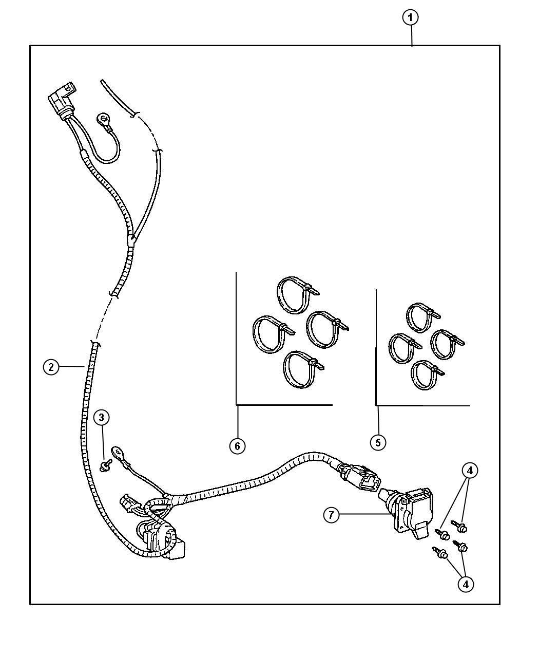Chrysler Cirrus LX Connector. 7 way. Ahc, pollak, sseries