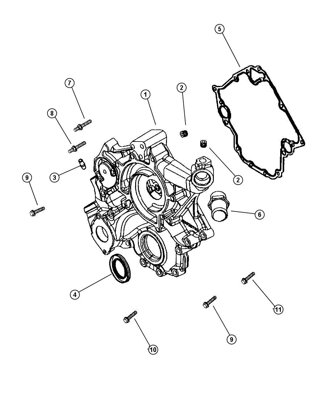 Timing Cover 4 7 Engine 4 7l V8 Mpi