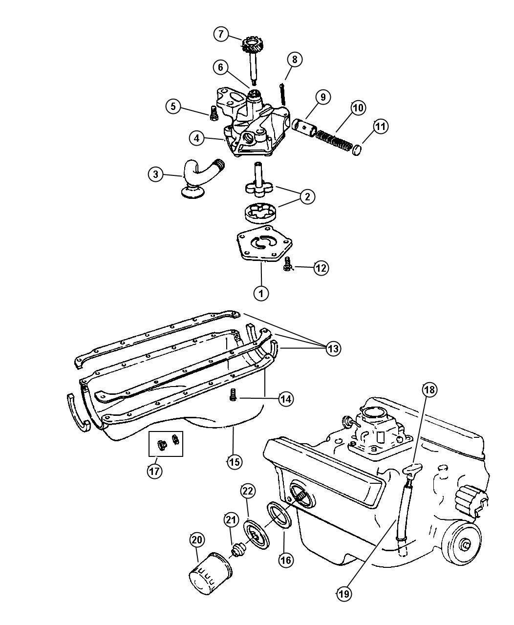 1992 Dodge Dakota Bushing. Oil pump and distibutor