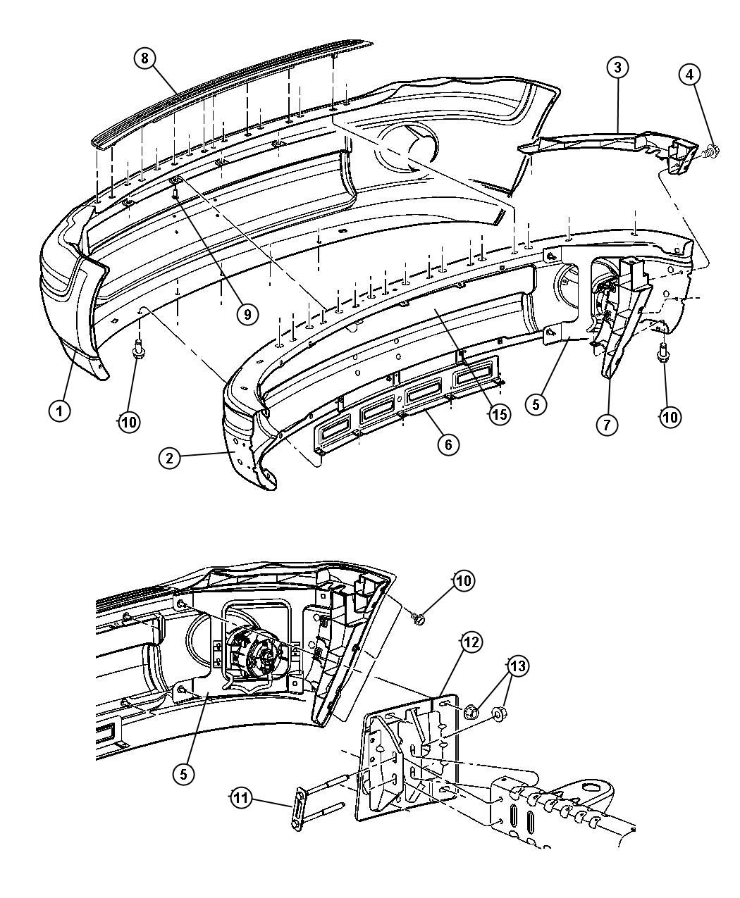 Dodge Ram Panel Front Bumper Panelbody