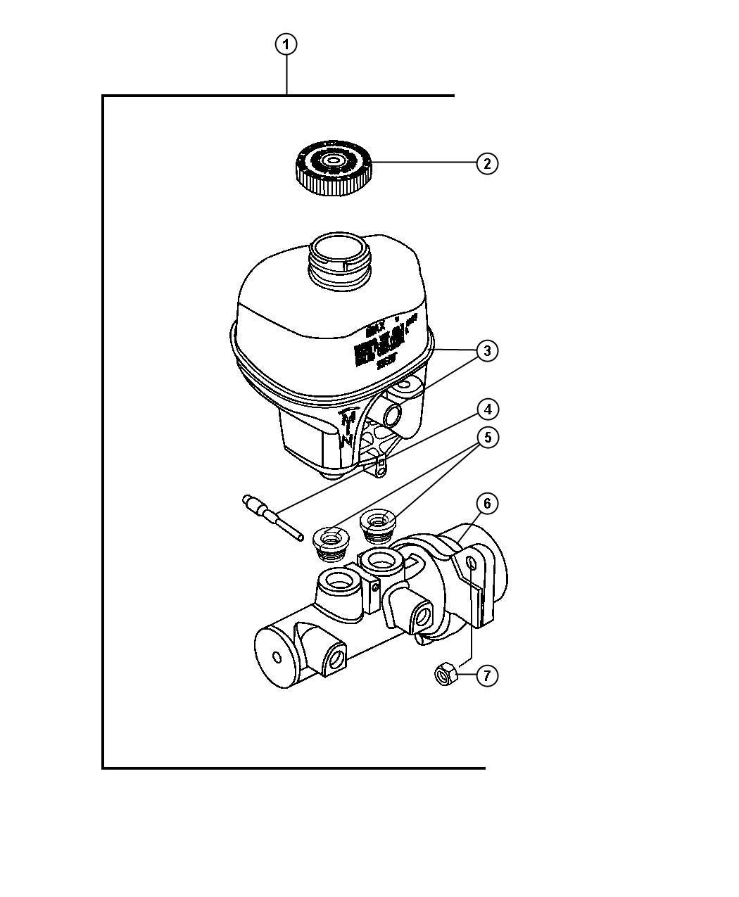 Dodge Ram Master Cylinder Brake