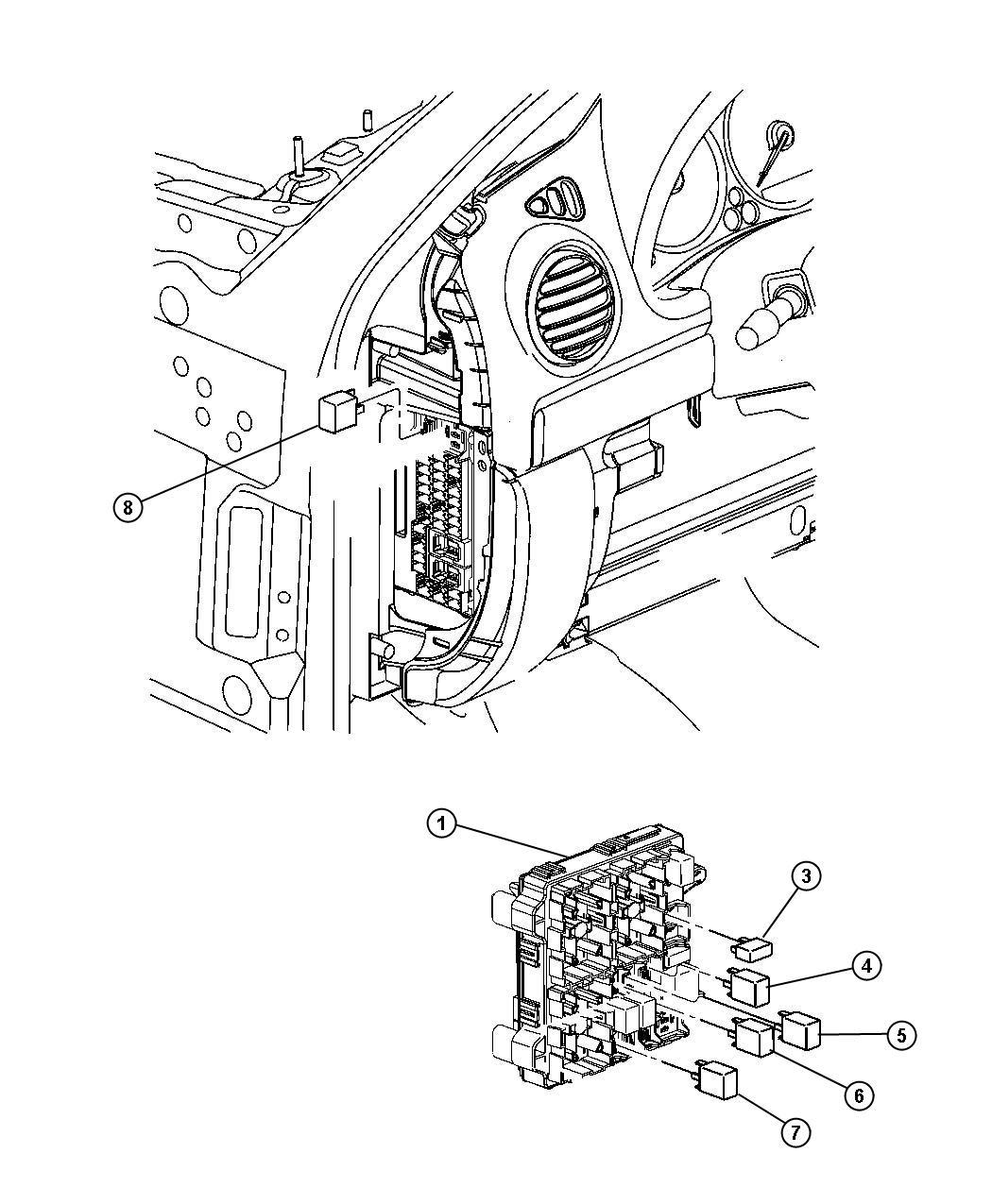 Dodge Ram Relay Radiator Fan Breaker