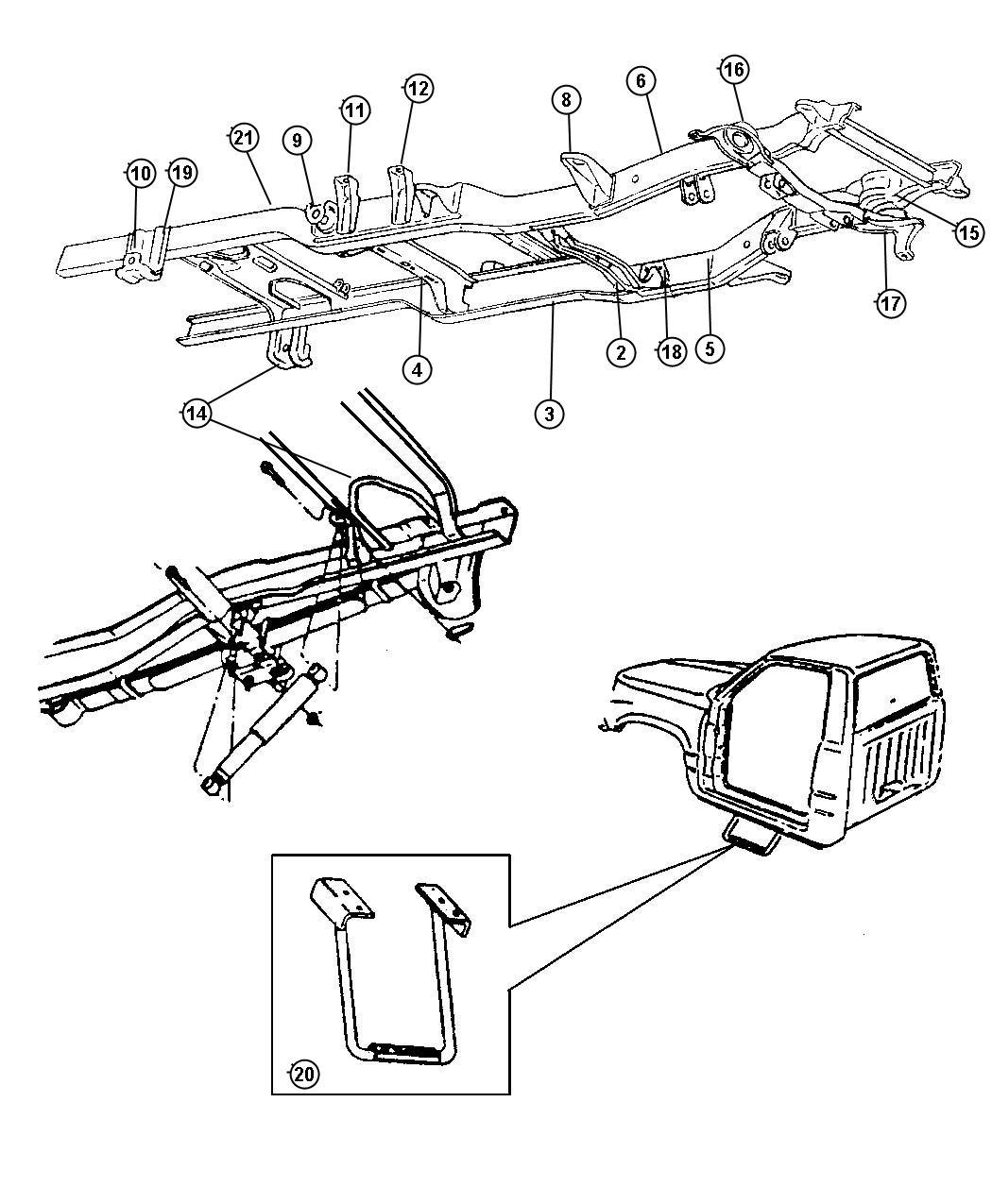 Dodge Dakota Bracket, bracket assembly. Front, right. Cab