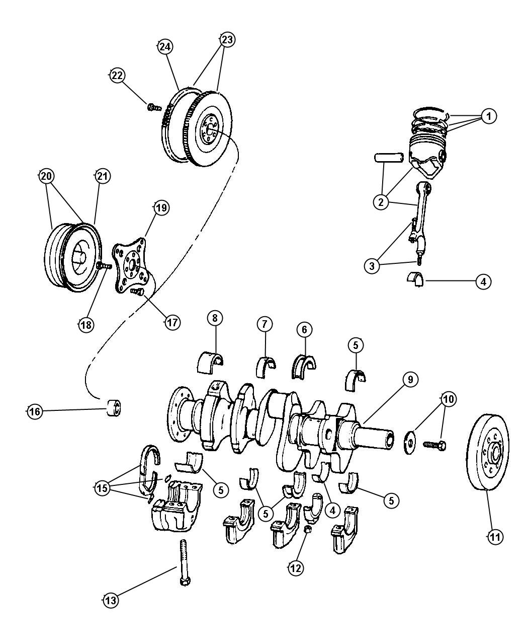 Dodge Dakota Bearing Pilot Manual Transmission Acx