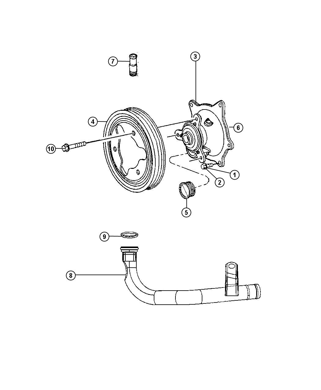 hight resolution of water pump dodge caravan