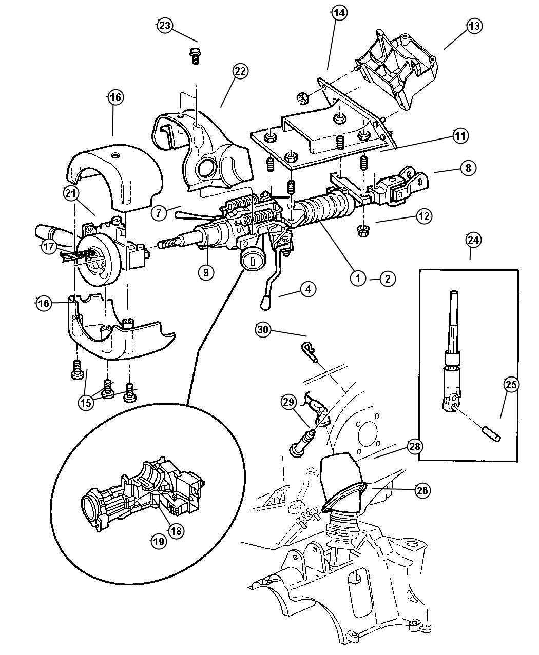 Service manual [Loose Tilt Steering Wheel On A 2002