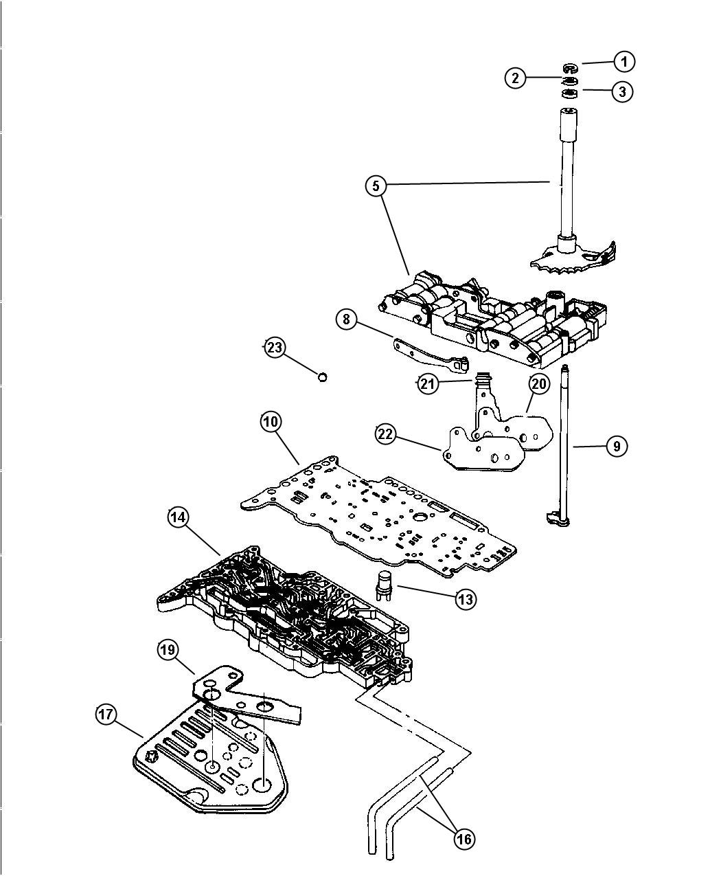 Dodge Grand Caravan Plate. Transmission valve body. Plns
