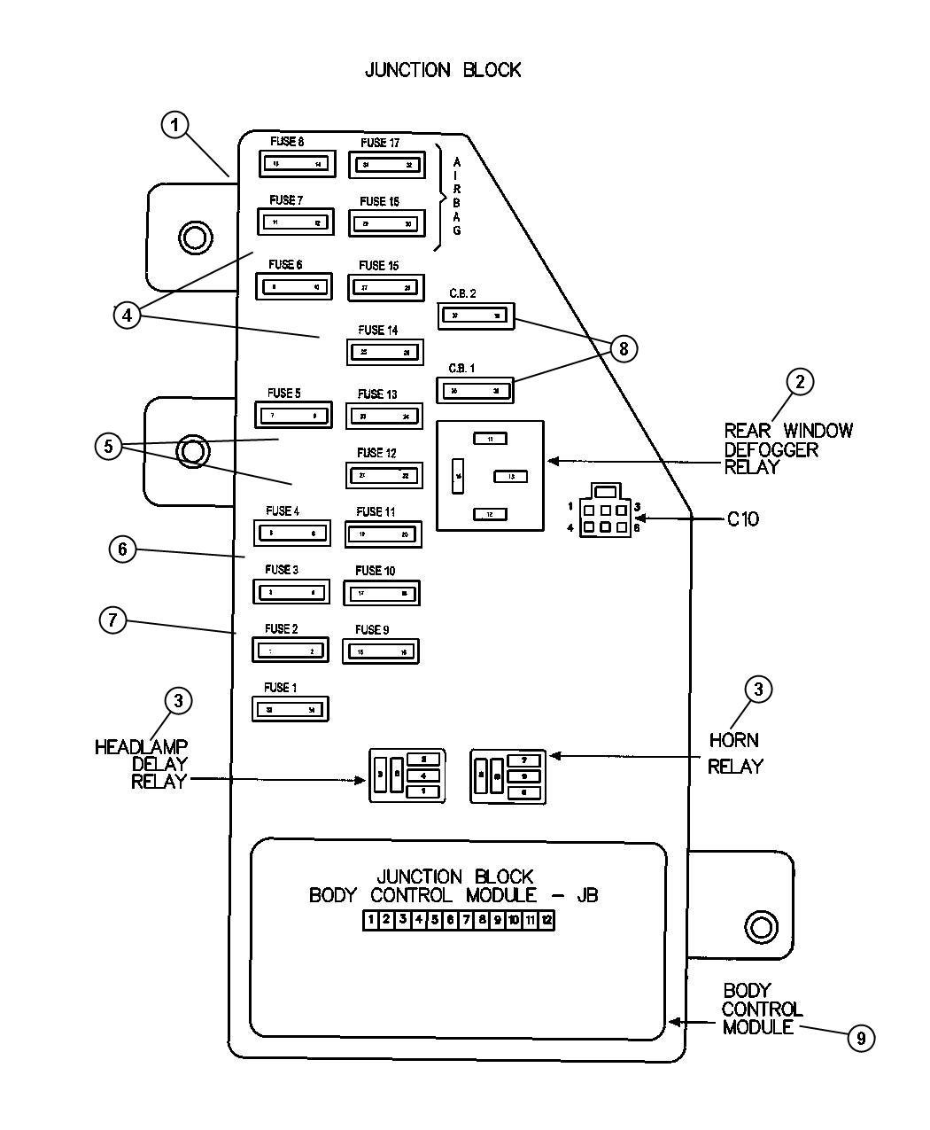 hight resolution of 2004 durango fuse diagram junction block