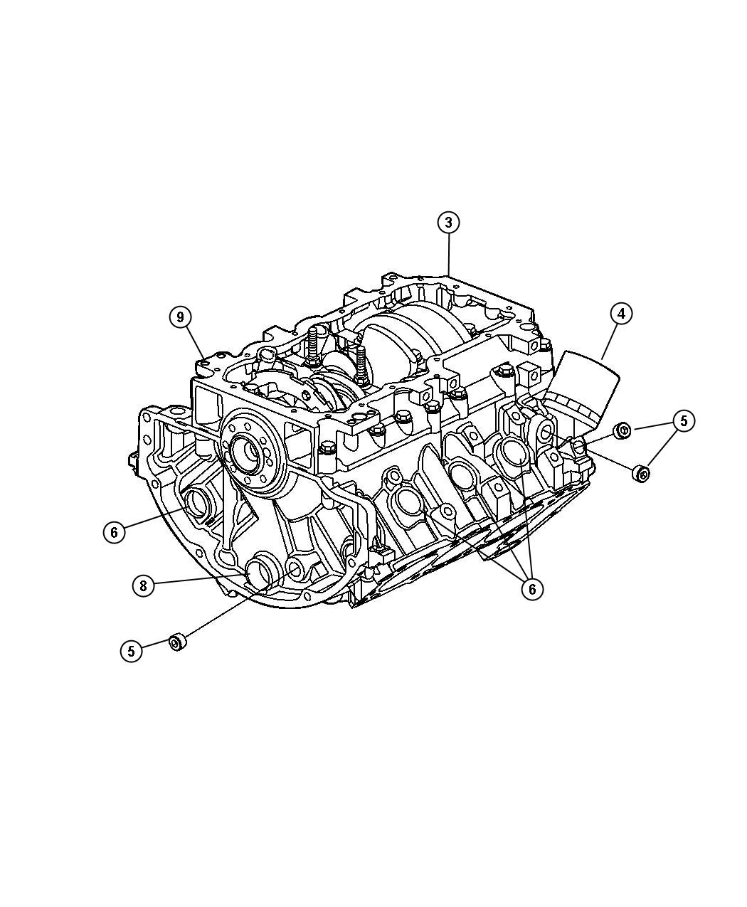 2001 Dodge Durango Gasket package. Engine lower. Notes