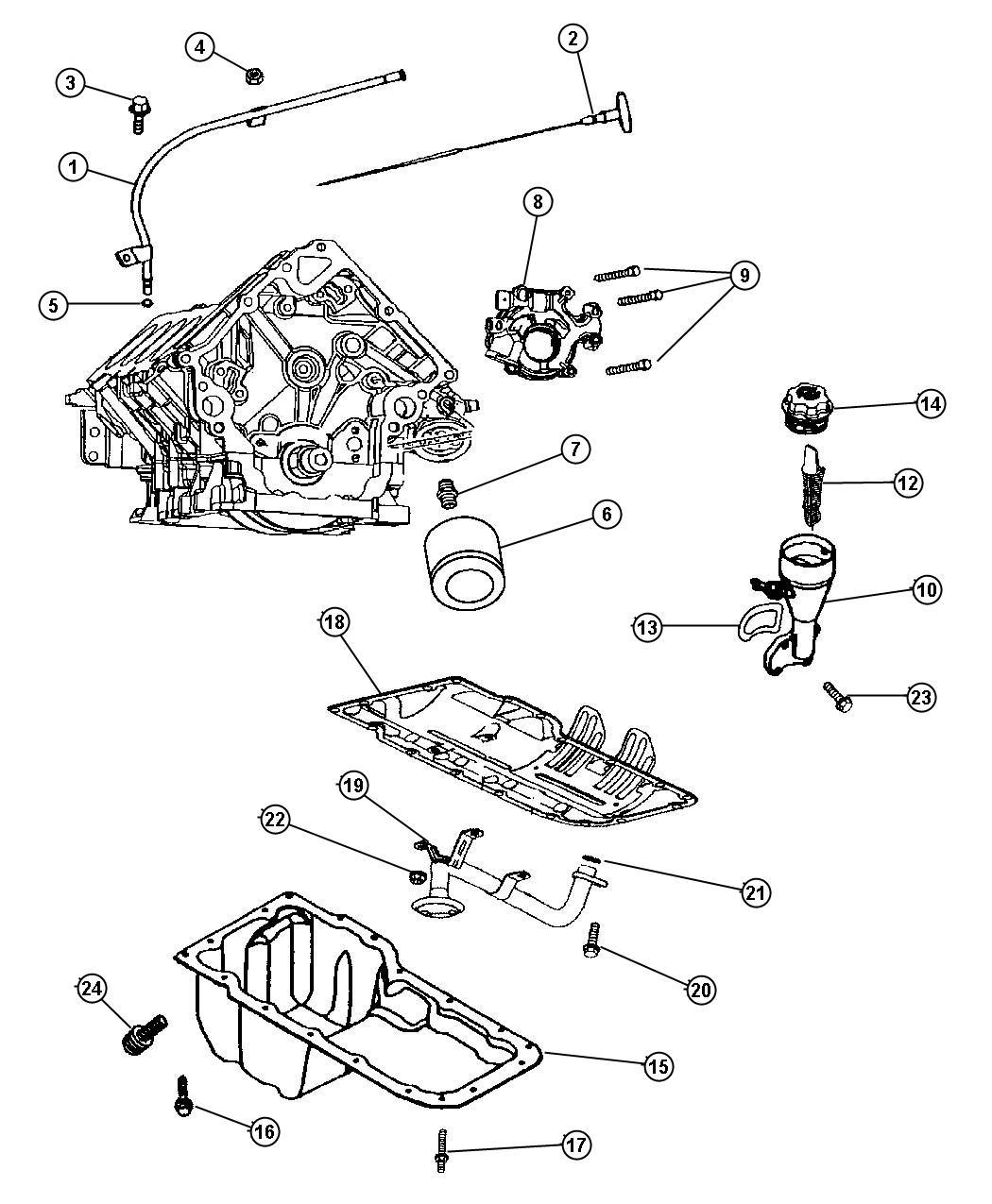 Dodge Ram Engine Oiling 4 7l Magnum 4 7l V8