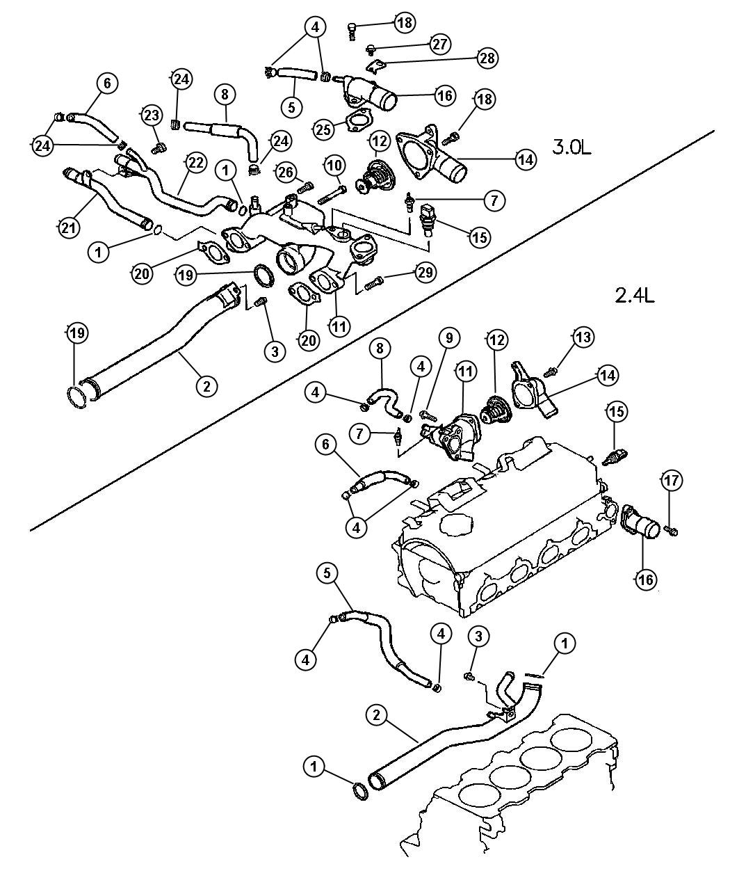 Thermostat and Related Parts