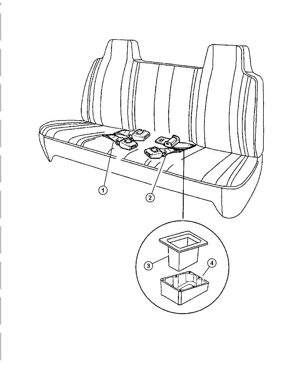 Jeep Grand Cherokee Lap Belt Seat Belt Two Buckles Used