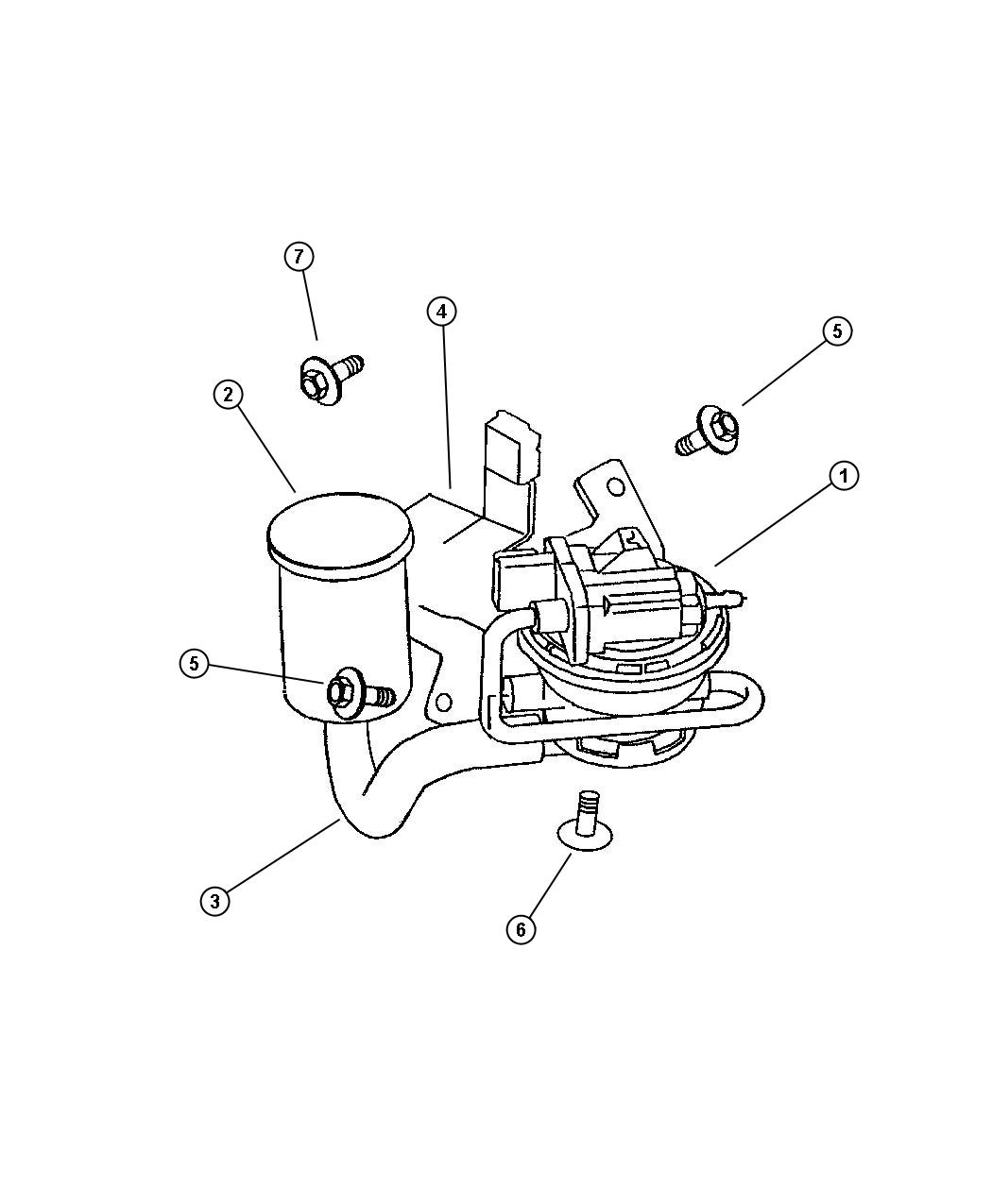NEW Genuine MOPAR 4891423AB Leak Detection Pump (2 AVAILABLE)